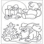 Jule-malesider - X-mas coloringpage 1
