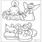 Jule-malesider - X-mas coloringpage 2