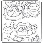 Jule-malesider - X-mas coloringpage 3