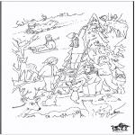 Jule-malesider - X-mas coloringpage 4