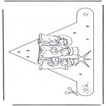 Jule-malesider - X-mas decorationflag 1
