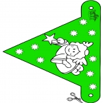Jule-malesider - X-mas decorationflag 10