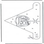 Jule-malesider - X-mas decorationflag 2