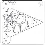 Jule-malesider - X-mas decorationflag 4