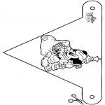 Jule-malesider - X-mas decorationflag 6