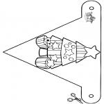 Jule-malesider - X-mas Decorationflag 8