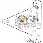 Jule-malesider - X-mas decorationflag 9