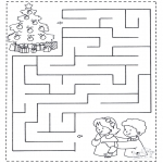 Jule-malesider - X-mas labyrinth 1
