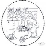 Jule-malesider - X-mas stitchingcard 10