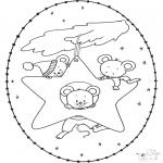 Jule-malesider - X-mas stitchingcard 15