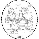 Jule-malesider - X-mas stitchingcard 24