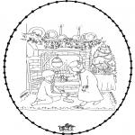 Jule-malesider - X-mas stitchingcard 25