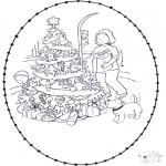 Jule-malesider - X-mas stitchingcard 5
