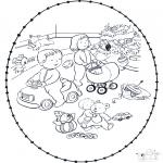 Jule-malesider - X-mas stitchingcard 6