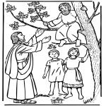 Bibel-malesider - Zacchaeus and Jesus
